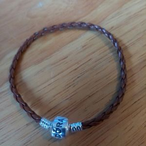 Brown leather Pandora bracelet